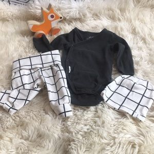 H&M baby long sleeve thermal hat and pants outfit